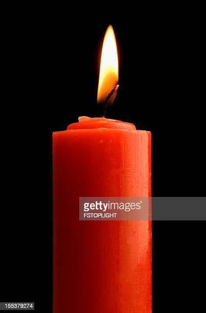 red candle - fstoplight stock photos and pictures