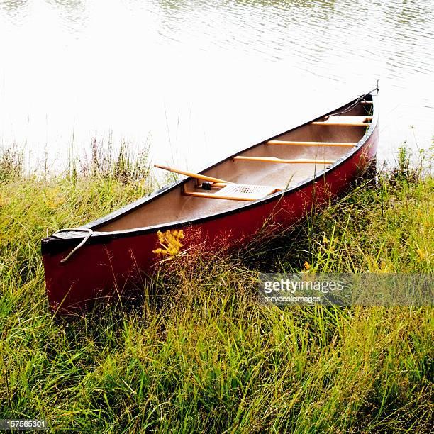 レッドカヌーで湖