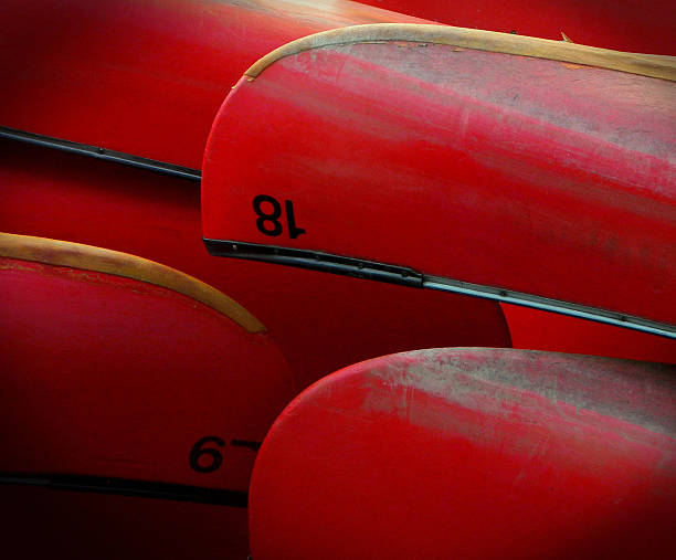Red canoes