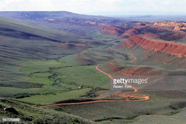 Red Canyon as viewed from US Higheay 28 southwest of Lander Wyoming