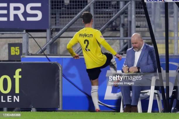 Red card for Robin Schouten of NAC Breda during the Dutch Keuken Kampioen Divisie match between NAC Breda v Roda JC at the Rat Verlegh Stadium on...