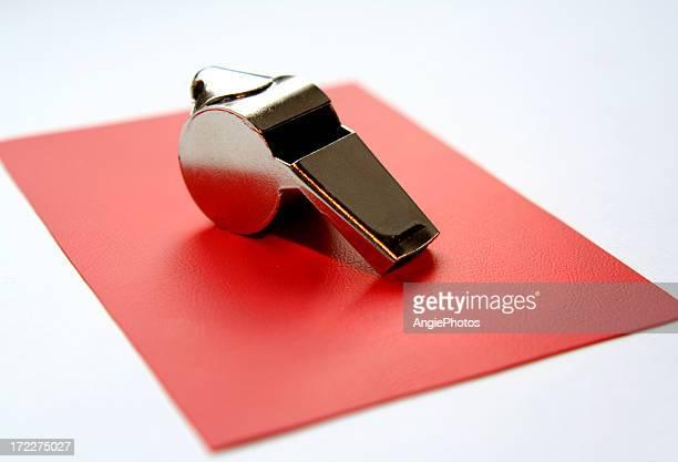 Carton rouge avec wisple