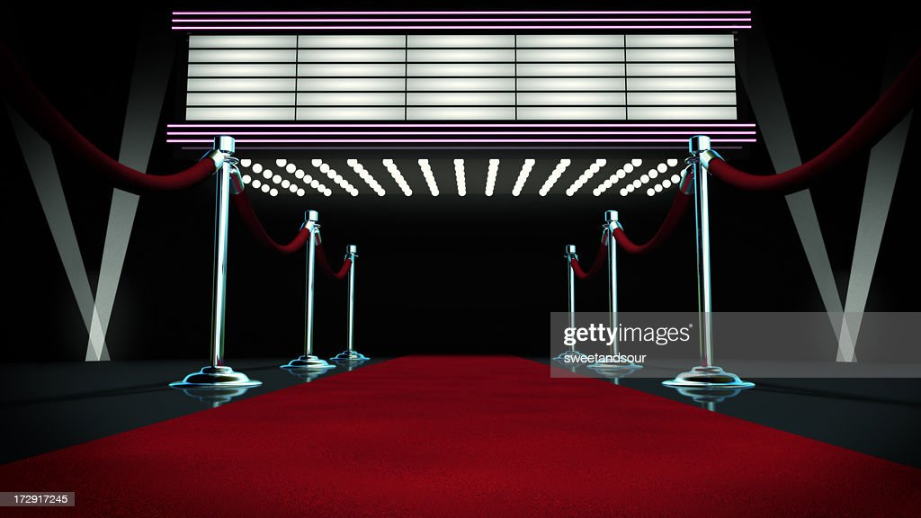 Red Carpet and Marquee : Stock Photo