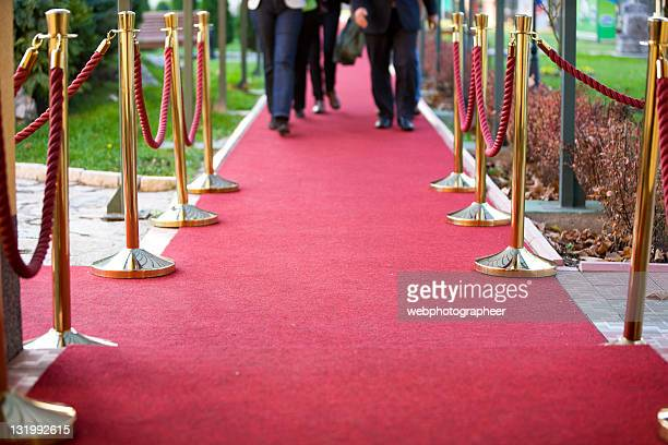 red carpet and stanchions - red carpet event stock pictures, royalty-free photos & images