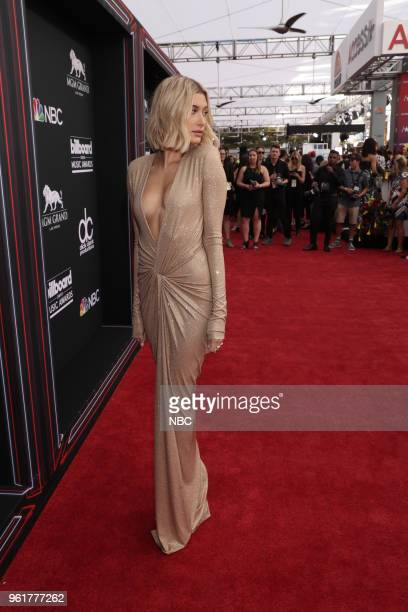 AWARDS Red Carpet Arrivals 2018 BBMA's at the MGM Grand Las Vegas Nevada Pictured Hailey Baldwin
