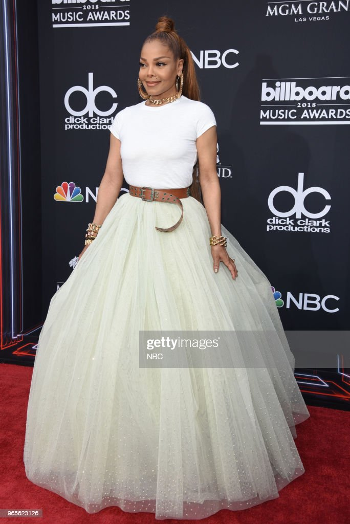 AWARDS -- Red Carpet Arrivals -- 2018 BBMA's at the MGM Grand, Las Vegas, Nevada -- Pictured: Janet Jackson --