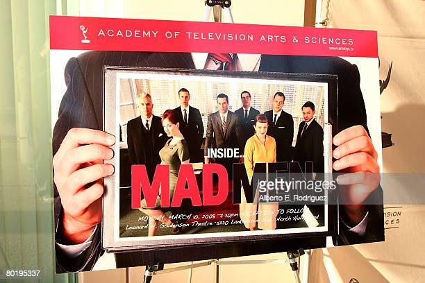 Red carpet atmosphere at The Academy of Television Arts Sciences' panel discussion for AMC's InsideMad Men on March 10 2008 in North Hollywood...