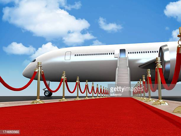 Red carpet for the guest