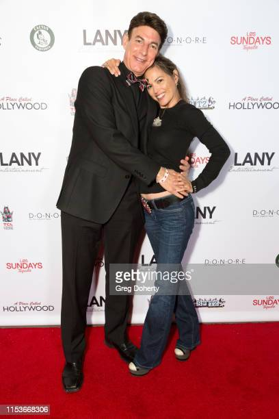 Red Carpet Host BJ Korros and Actress Terri Ivens wearing Desert Daisy Jewelry attend an FYC Event A Place Called Hollywood at TCL Chinese 6 Theatres...