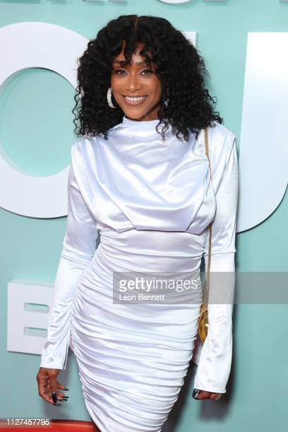 Red carpet host Tami Roman attends BET's American Soul Los Angeles Premiere on February 04 2019 in North Hollywood California