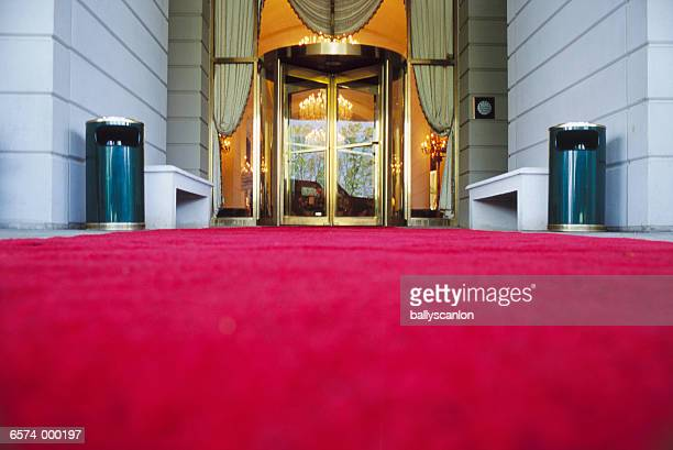 Red Carpet in Front of Hotel