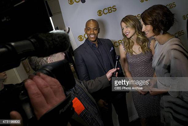 Red carpet interviews before the CBS Upfront 2015 at Carnegie Hall May 13 2015 in New York CityFrom the new CBS drama SUPERGIRL stars Mehcad Brooks...