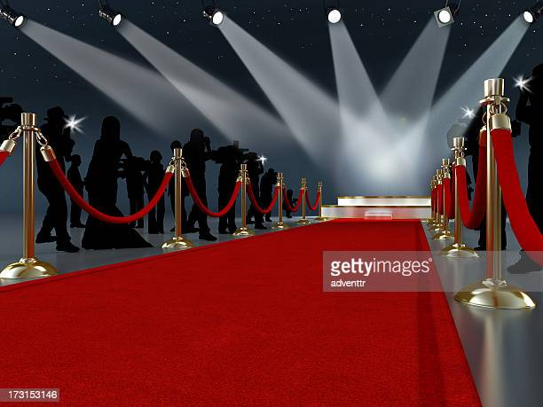 red carpet leading to the stage - red carpet event stock pictures, royalty-free photos & images
