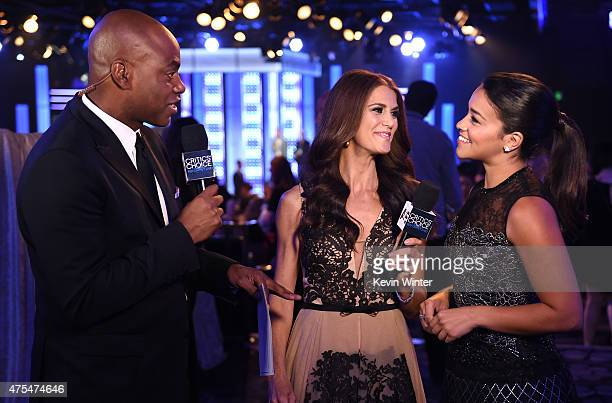 Red Carpet Live Stream hosts Kevin Frazier and Samantha Harris interview actress Gina Rodriguez at the 5th Annual Critics' Choice Television Awards...