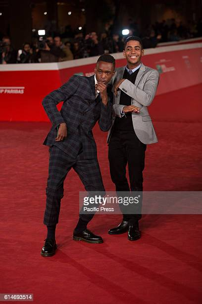 Red Carpet of the film Moonlight with Ashton Sanders and Jharrel Jerome
