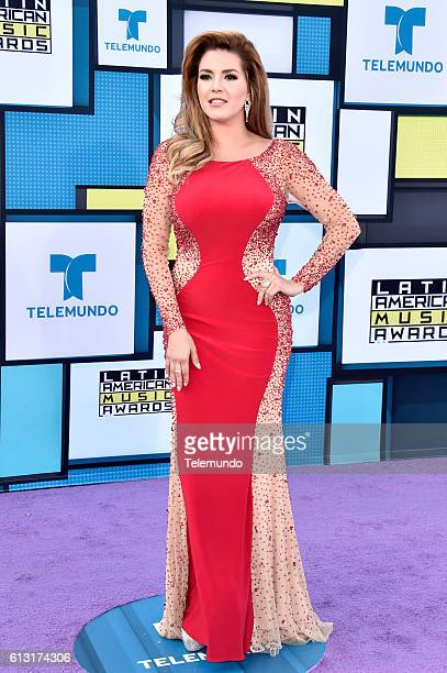 AWARDS 'Red Carpet' Pictured Actress/TV personality Alicia Machado arrives at the 2016 Latin American Music Awards at the Dolby Theater in Los...