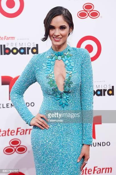 Alexandra Pomales arrives at the 2014 Billboard Latin Music Awards from Miami Florida at the BankUnited Center University of Miami April 24 2014...