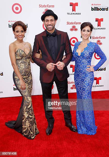 Red Carpet -- Pictured: Ana Maria, Leonardo Rocco, and Carolina arrive at the 2014 Billboard Latin Music Awards, from Miami, Florida at the...