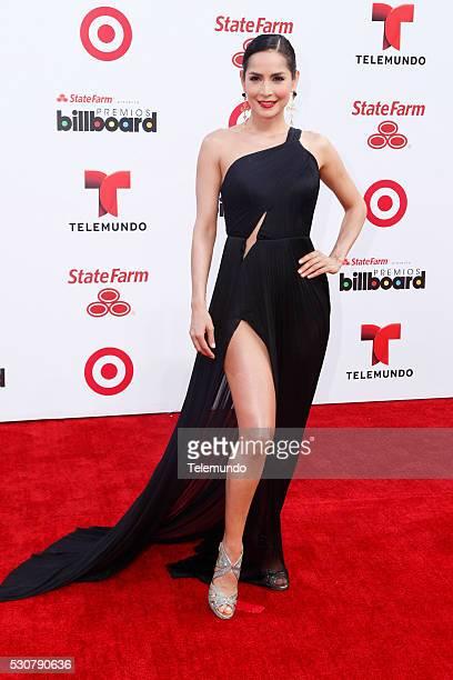Carmen Villalobos arrives at the 2014 Billboard Latin Music Awards from Miami Florida at the BankUnited Center University of Miami April 24 2014...