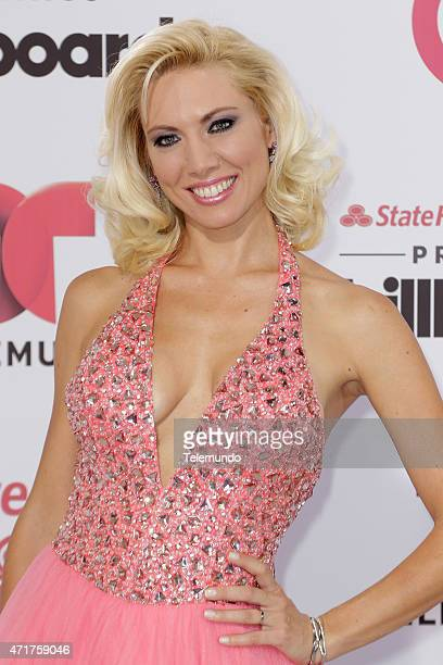 Red Carpet -- Pictured: Carolina Laursen arrives at the 2015 Billboard Latin Music Awards, from Miami, Florida at the BankUnited Center, University...