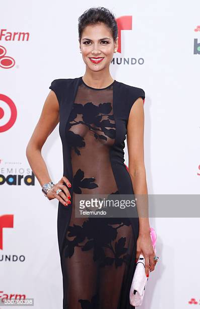 Catalina Denis arrives at the 2014 Billboard Latin Music Awards from Miami Florida at the BankUnited Center University of Miami April 24 2014 PREMIOS...