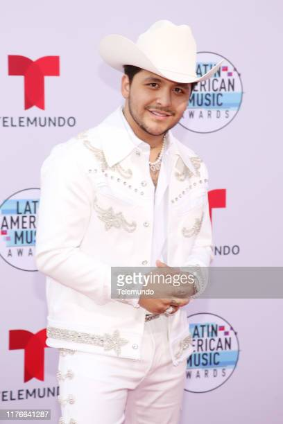 AWARDS Red Carpet Pictured Christian Nodal at the Dolby Theatre in Hollywood CA on October 17 2019