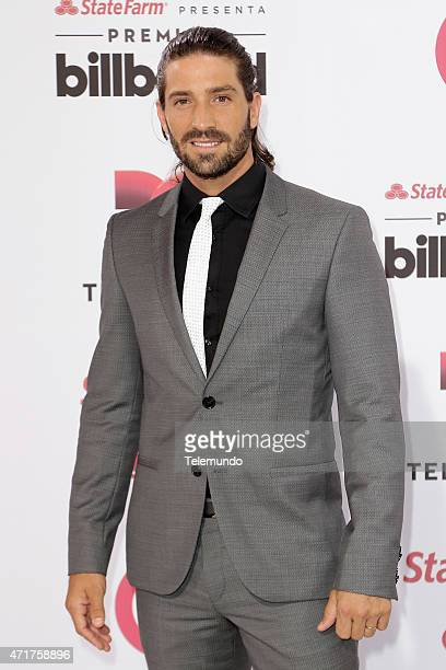 David Chocarro arrives at the 2015 Billboard Latin Music Awards from Miami Florida at the BankUnited Center University of Miami on April 30 2015...