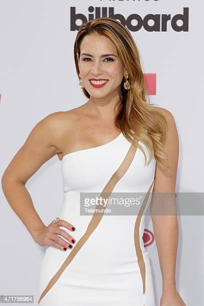 Erika de la Vega arrives at the 2015 Billboard Latin Music Awards from Miami Florida at the BankUnited Center University of Miami on April 30 2015...