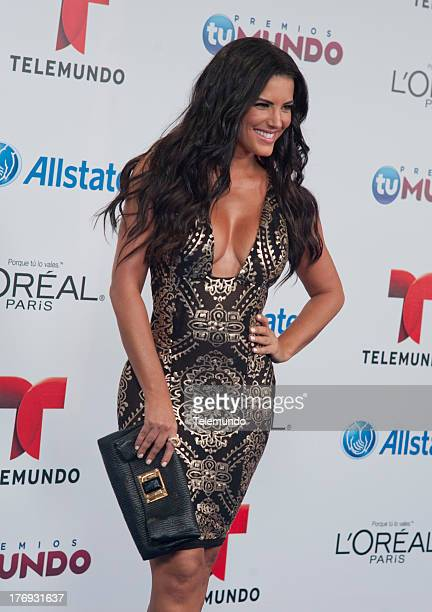 Gaby Espino arrives at the 2013 Premios Tu Mundo from the American Airlines Arena in Miami Florida August 15 2013