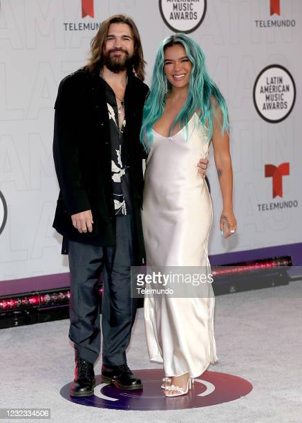 "Red Carpet"" -- Pictured: Juanes and Karol G at the BB&T Center in Sunrise, FL on April 15, 2021 --"