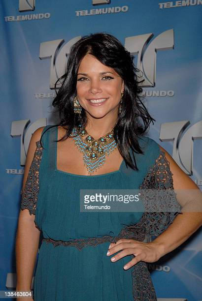 MAY 2007 Red Carpet Pictured Julie Giliberti arrives at the 2007 Telemundo Upfront event on May 15 2007