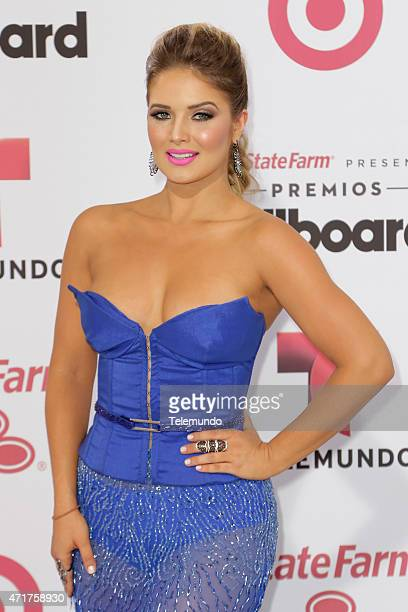 Kimberly Dos Ramos arrives at the 2015 Billboard Latin Music Awards from Miami Florida at the BankUnited Center University of Miami on April 30 2015...