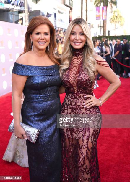 AWARDS Red Carpet Pictured María Celeste Arrarás and Myrka Dellanos at the Dolby Theatre in Hollywood CA on October 25 2018