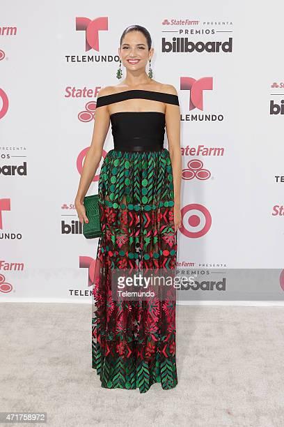 Natalia Jimenez arrives at the 2015 Billboard Latin Music Awards from Miami Florida at the BankUnited Center University of Miami on April 30 2015...