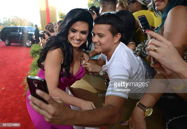 Penelope Menchaca arrive at the 2014 Billboard Latin Music Awards from Miami Florida at the BankUnited Center University of Miami April 24 2014...