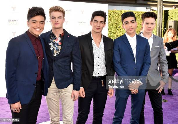 AWARDS 'Red Carpet' Pictured Sergio Calderon Brady Tutton Chance Perez Drew Ramos and Michael Conor of In Real Life at the Dolby Theater in Hollywood...