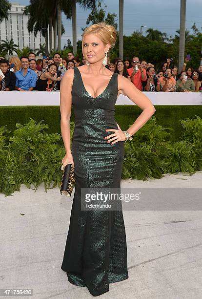 Sissi Fleitas arrives at the 2015 Billboard Latin Music Awards from Miami Florida at the BankUnited Center University of Miami on April 30 2015...