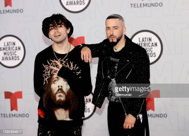"Red Carpet"" -- Pictured: Sour Beat and Yandel at the BB&T Center in Sunrise, FL on April 15, 2021 --"
