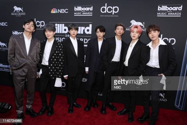 AWARDS Red Carpet Roaming 2019 BBMA at the MGM Grand Las Vegas Nevada Pictured BTS