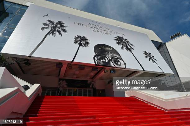 Red Carpet roll out during the 74th annual Cannes Film Festival on July 06, 2021 in Cannes, France.