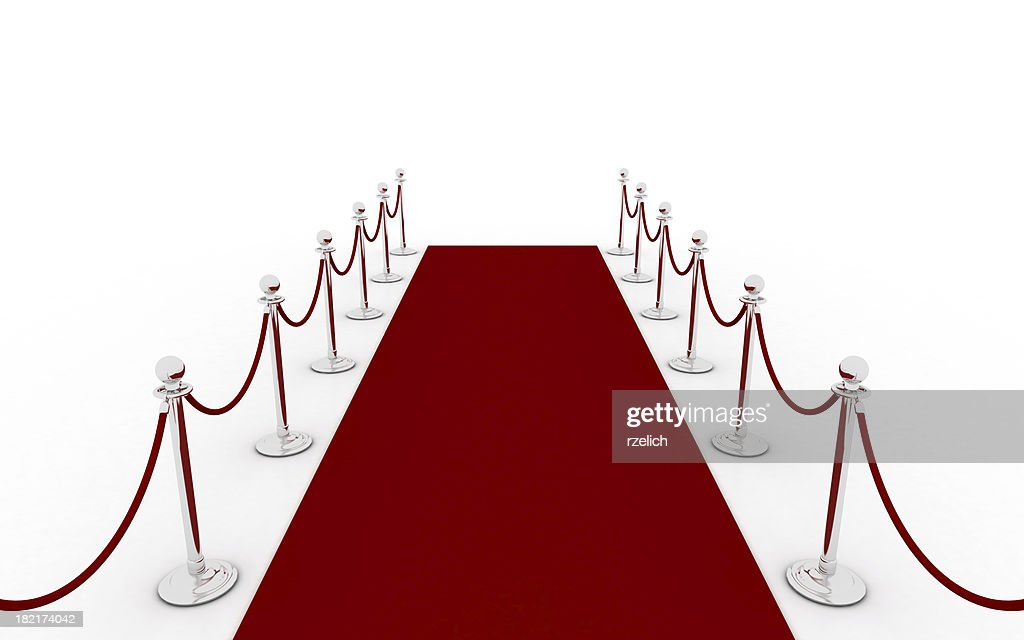 Red carpet - second view (silver) : Stock Photo