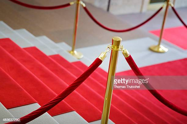 Red carpet with a red cord as a barrier on July 29 2015 in Berlin Germany