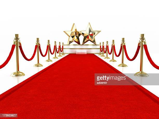 Red carpet with two stars