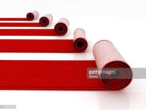 red carpets - rolled up stock pictures, royalty-free photos & images