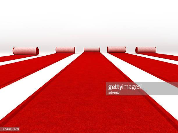red carpets rolling - red carpet event stock pictures, royalty-free photos & images