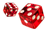 Red Casino dice (w/clipping path)