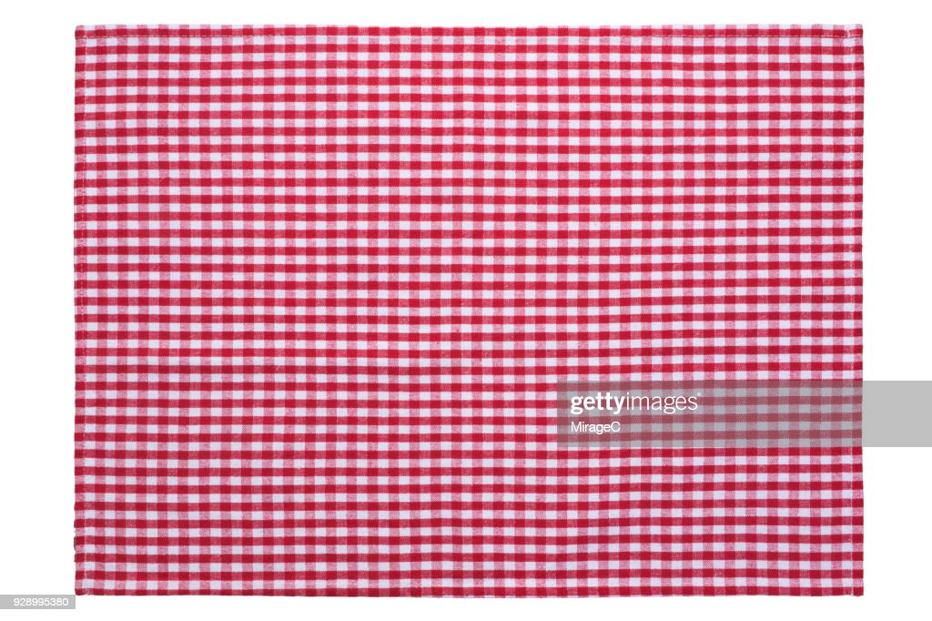 Red Checked Pattern Placemat : Foto de stock