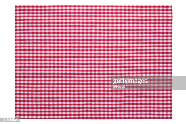 red checked pattern placemat - checked pattern stock pictures, royalty-free photos & images