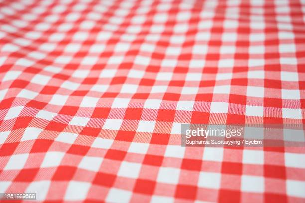 red checkered tablecloth textured for background - checked pattern stock pictures, royalty-free photos & images