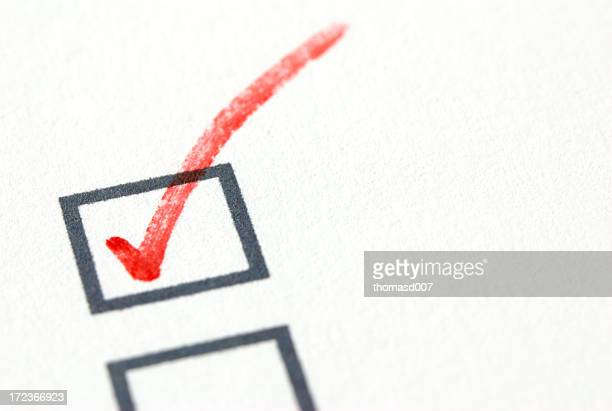 red checkmark - checkbox stock photos and pictures